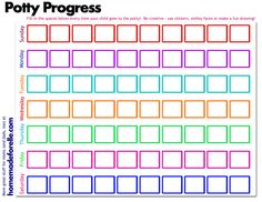 Free Printable Potty Training Sticker Chart - and tips for potty training & potty training regression