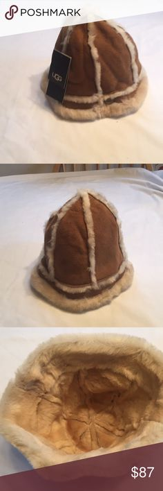 7c872566 Ugg Bucket Hat Real Dyed Shearling Sheepskin Fur Origin Spain Small stain  on front of hat. Not noticeable when worn UGGS Accessories Hats