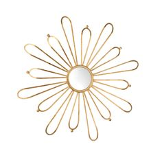 Bring a subtle floral theme into your bedroom or hallway with this fun twist on a starburst mirror. Cleopatra Mirror, $506. insideavenue.com   - HouseBeautiful.com