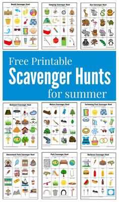 Hunts {Free Printables} These summer themed scavenger hunts will keep your kids busy and entertained this summer.These summer themed scavenger hunts will keep your kids busy and entertained this summer. Summer Scavenger Hunts, Nature Scavenger Hunts, Scavenger Hunt For Kids, Kindergarten Scavenger Hunt, Outdoor Scavenger Hunts, Scavenger Hunt Clues, Summer Activities For Kids, Toddler Activities, Fun Activities