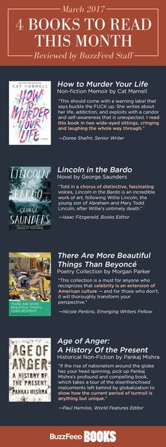 These are books that we read and loved in February; stay up-to-date with March's with the BuzzFeed Books email newsletter. If you want to see what other books people are talking about, check out your independent bookstore, the New York Times best-sellers, or follow the Goodreads new book updates.