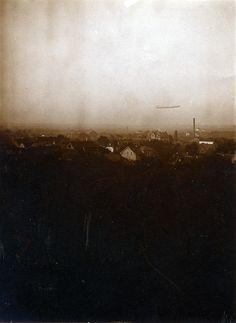 Zeppelin über Bensheim, 1911