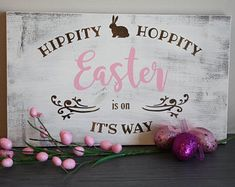 Custom rustic wooden signs by SerendipityByElisa Create Yourself, Finding Yourself, Peter Cottontail, Serendipity, Wooden Signs, Etsy Seller, Easter, Neon Signs, Rustic