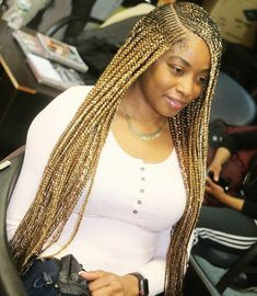 Looking for a new hairstyles in town These are braids to suit every style, from ponytails to buns, and even braids with vibrant colors. Box Braids Hairstyles, Dope Hairstyles, My Hairstyle, Black Girls Hairstyles, Black Girl Braids, Braids For Black Hair, Girls Braids, Hype Hair, Blonde Braids
