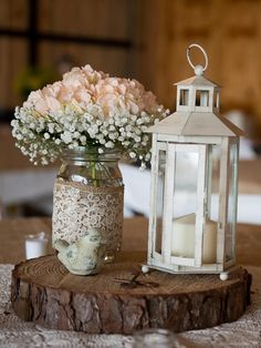 decorated mason jar flowers