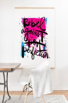 Kal Barteski REBEL AGAINST PERFECTION Art Print And Hanger | DENY Designs Home…