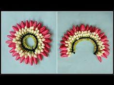How to String Rose Petals garland || Easy Method to make garland Rose Petals || Rainbow Rangoli - YouTube