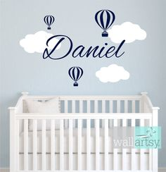 Hey, I found this really awesome Etsy listing at https://www.etsy.com/listing/155912607/hot-air-balloon-wall-decals-hot-air