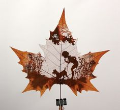 Art from cut leaves