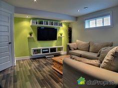 Sous-sol de rêve à voir à Chambly Basement Workshop, Basement Gym, Basement Bedrooms, Basement Remodeling, Whole Home Audio, Master Bedroom Closet, Home Theater Rooms, Audio Room, Ideal Home