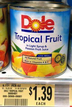 Publix Shoppers! Dole Tropical Fruit  only $0.89 each! - http://www.livingrichwithcoupons.com/2013/03/dole-coupon-fruit-89-publix.html