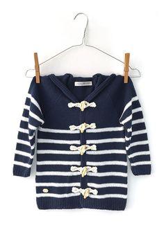 DIY Sailor Jacket - Tutorial and Pattern Crochet For Boys, Crochet Baby, Knit Crochet, Baby Coat, Coat Patterns, Baby Cardigan, Couture, Knit Jacket, Little Girl Dresses
