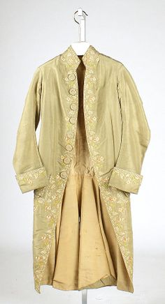 Coat 1775, French, Made of silk