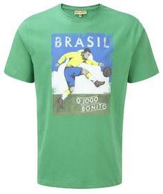 Paine Proffitt World Cup 2014 Brazil T-Shirt Brazil T Shirt, Best Gym Workout, World Cup 2014, World Of Sports, Football, Mens Tops, Shirts, Art, Soccer