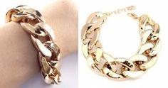 Bransoletka Gruby Łańcuch Pancerka Złota. #bransoletka #bracelet