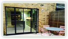 Replacement steel doors installed and supplied throughout the UK. Single glazed or double-glazed metal framed replacement doors from The Green Window Company. Steel Doors And Windows, Metal Doors, Crittal Doors, Window Company, Crittall, Green Windows, Roof Extension, House Extensions, Single Doors
