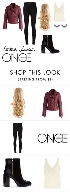 """emma swan once upon a time"" by tessamarie-h ❤ liked on Polyvore featuring Chicwish, J Brand, Once Upon a Time, Forever 21 and Polo Ralph Lauren"