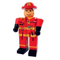 Fireman Fidget Toy by Original Toy Company. $3.99. The Robot Fidget Toy sure is flexible (perhaps unlike your boss!). This little wooden robot has movable appendages, so you can position him into a number of different poses. He can sit, stand, kick, bend, lie down, and do the splits. You can even move his