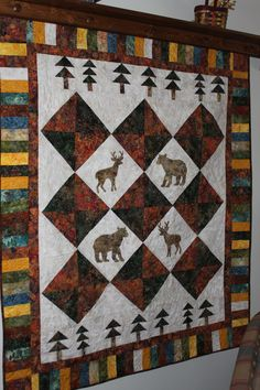 """First quilt of 2013 - from the book """"Man Cave Quilts"""" by Rochelle Martin."""