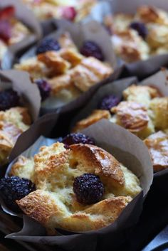 french toast cups with berries ... perfect for brunch