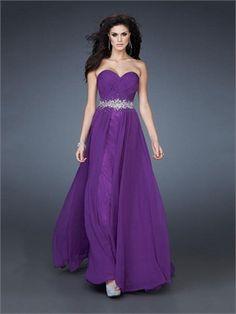 A-line Sweetheart Beaded Low Back Chiffon Prom Dress PD2304 www.simpledresses.co.uk £126.0000