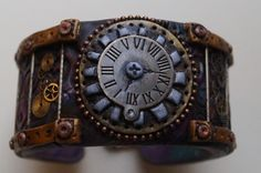 Play Time....Polymer Clay - SteamPunk Cuff Bracelet