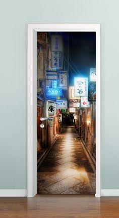 Porta com profundidade ( Bairro Chinês) - à partir de R$ 99,00 *Solicite uma imagem para sua porta, criamos ela pra você!!!
