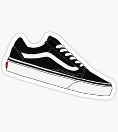 """""""Vans Old Skool Redone - Black and White"""" Stickers by Dylan Rogers Tumblr Stickers, Phone Stickers, Cool Stickers, Printable Stickers, Preppy Stickers, Papel Sticker, Images Kawaii, Black And White Stickers, Red Bubble Stickers"""