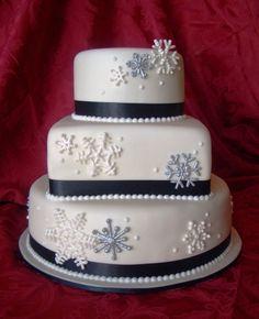 snowflake wedding cake - Bing Images