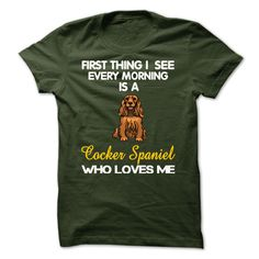 I See My Cocker Spaniel Every Morning T-Shirts, Hoodies. GET IT ==► https://www.sunfrog.com/Pets/I-See-My-Basset-Hound-Every-Morning-4140849-Guys.html?id=41382