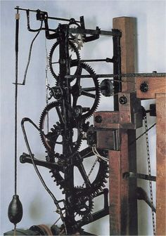 """A medieval """"faceless"""" clock at St. Andrews Church in Castle Combe, England. I like the look of it but have no idea how it works."""