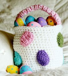 Girly Egg Easter Basket BASKET ONLY by MoMmAb7 on Etsy, $18.00