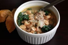 White Bean Kale and Sausage Soup