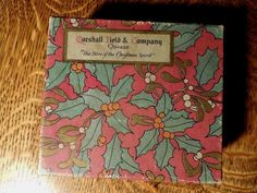 Small MARSHALL FIELD & CO. Christmas gift box, cardboard