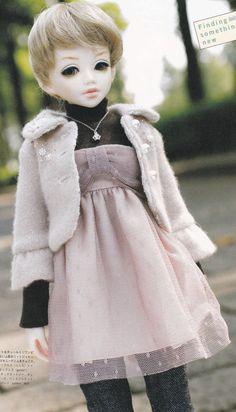 1/4 MSD BJD Doll Casual Chic Girly Short Coat por DollyAndPaws