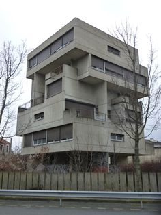 Abandoned apartment building in the Brutalist architectural style. Paris, France.