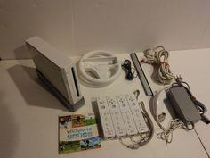 Nintendo Bundle Wii Console w/ 4 Wii Remotes - Wii Sports +Accessories FREE SHIP #Nintendo