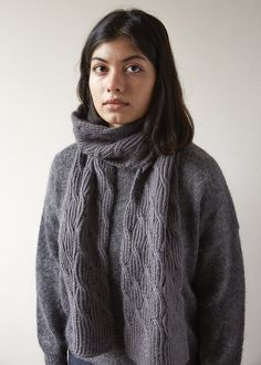 Reversible Rivulet Scarf in Trout Brown | Purl Soho