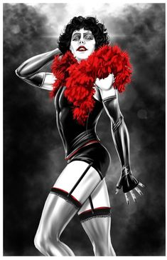 BROTHERTEDD.COM - johnny-dynamo: Frank N' Furter by Damon Bowie The Rocky Horror Picture Show, Horror Pictures, Movie Characters, Fictional Characters, Cool Art, Awesome Art, Damon, Bowie, Wonder Woman
