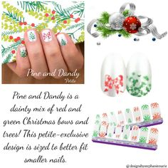 Pine and Dandy - Petite Christmas Bows, Green Christmas, Fail Nails, My Nails, Street Game, Color Street Nails, Nail Bar, Retail Shop, Beautiful Soul