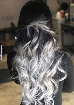 33 blonde or caramel sweeping ideas for gorgeous hair - HAIR - Hair Color Cute Hair Colors, Pretty Hair Color, Hair Dye Colors, Ombre Hair Color, Silver Ombre Hair, Silver Hair Colors, Long Hair Colors, Brown And Silver Hair, Long Silver Hair