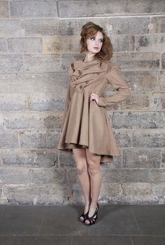Kelly Ewing :: Autumn / Winter 2012 :: Lori Coat in Tan Wool