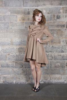 Kelly Ewing :: Autumn / Winter 2012 :: Lori Coat in Tan Wool