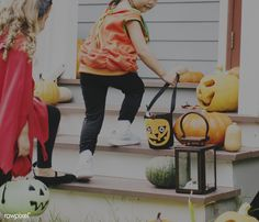 Little children trick or treating | premium image by rawpixel.com Halloween 2018, Halloween Costumes, Little Children, Mode Shop, Halloween Pumpkins, Trick Or Treat, Image, Little Boys, Halloween Gourds
