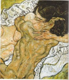 ** Love is the great Amen of the Universe. // Novalis ::: Egon Schiele - El abrazo - 1917