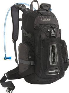 CamelBak   H.A.W.G NV -- can carry helmet, rain gear, tools, pump, spare tube, food, etc.  Rain cover included.