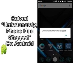 """#Fix """"#Unfortunately, #Phone Has #Stopped"""" On #Android. 1: #Restart Your #Device. 2: Restart #PhoneApp. 3: Update Phone App. 5: Clear Phone App #Cache. 7: Remove And Re-Insert SIM Card. 11 Try #AndroidRepair. 12 #FactoryReset. Android Backup, Settings App, Data Recovery, Sim, How To Remove, Messages, Phone, Telephone"""