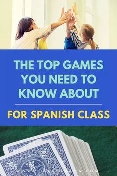 Find the BEST games to play in Spanish class! This list of fun, low-prep games deliver lots of comprehensible input, while engaging the whole class. Also includes tons of videos to make the games easy to understand and use starting tomorrow! Spanish Games, Spanish 1, Spanish Lessons, How To Speak Spanish, Learn Spanish, Learn French, French Lessons, High School Spanish, Elementary Spanish