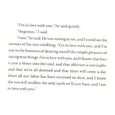The Fault In Our Stars - How to tell someone you love them. Augustus Walters you're doing it right!