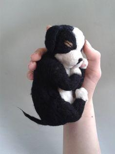 Needle Felted newborn pup dog Needle Felted Dog by Made4ubyJackie